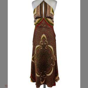 silk Nicole Miller collection scarf halter dress 8